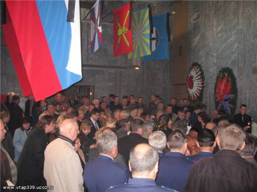 Траурный зал госпиталя Бурденко.  04 октября 2007г.